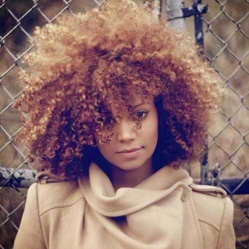 Short Curly Afro Hairstyles-24
