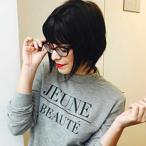 Short Hairstyles with Bangs 2017