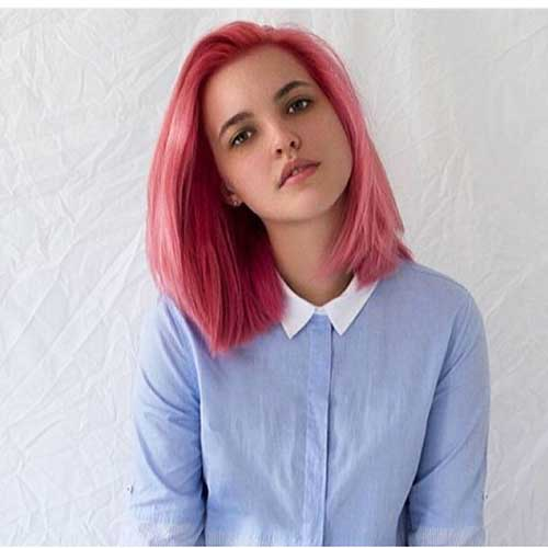 Short Hairstyles 2016 Pink