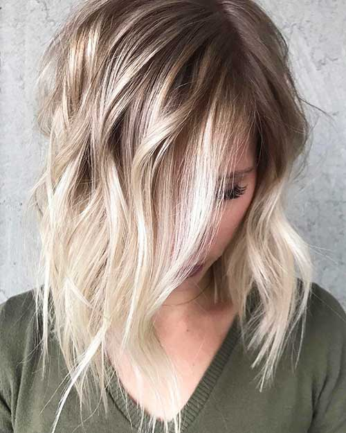 ombre short hair style 20 choppy haircuts for textured style 7383 | 5 Short Hairstyles 2017031383