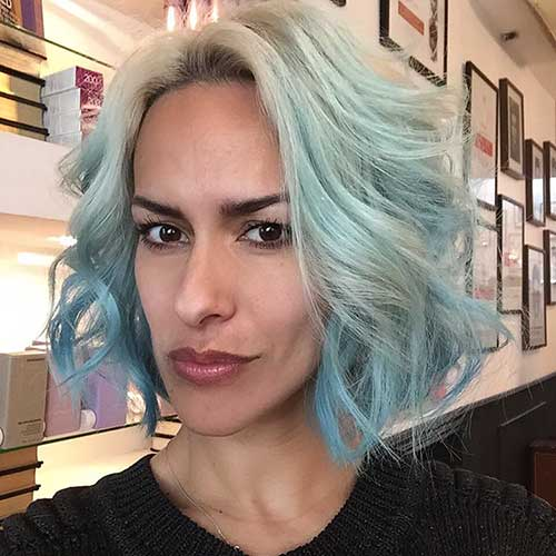 Super Short Blue Hair - 6