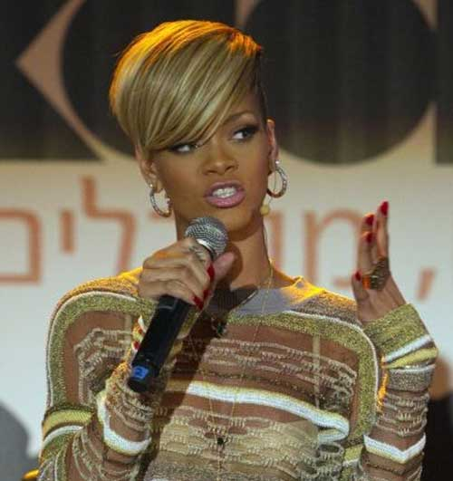 Rihanna Short Blonde Hair-6