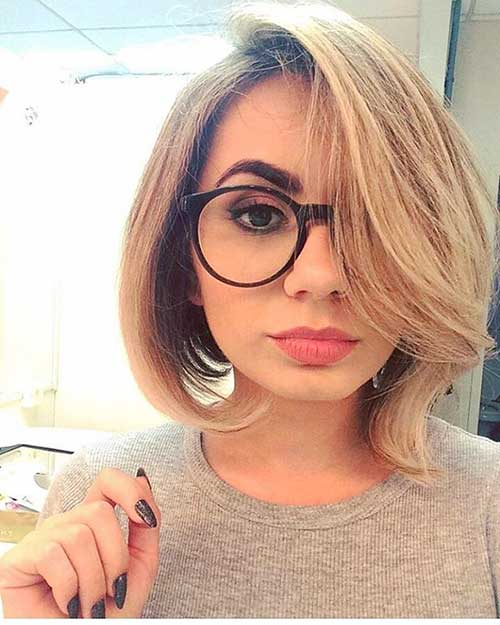 Short Hairstyles For Round Hairstyles - 7