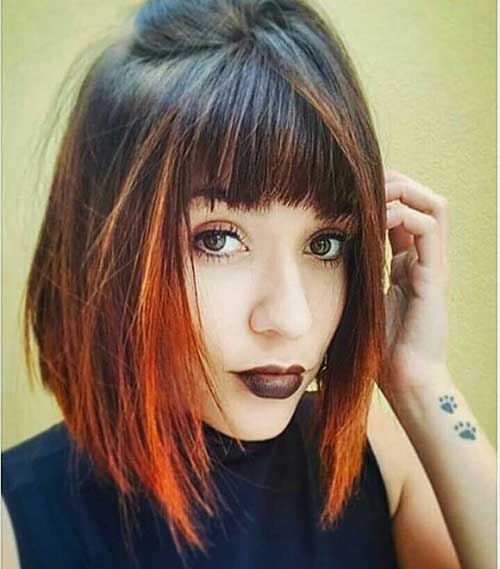 Short Straight Hairstyles - 7