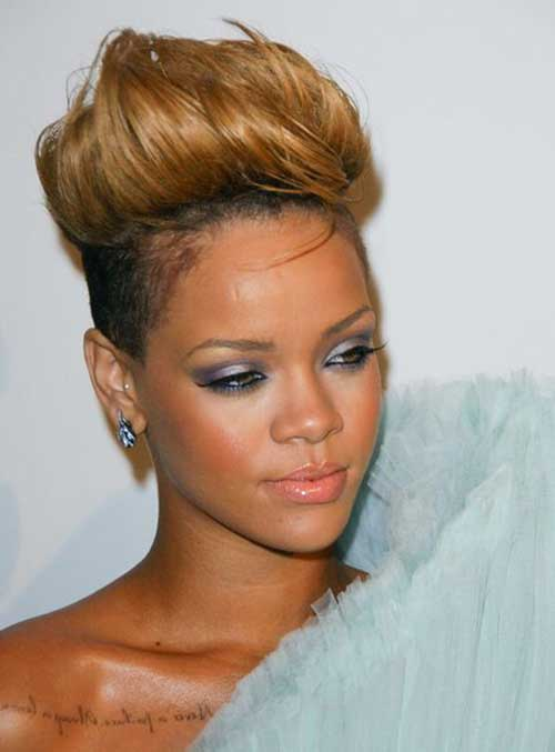 Rihanna Short Blonde Hair-7