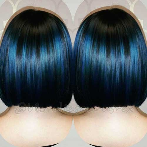 Super Short Blue Hair - 9