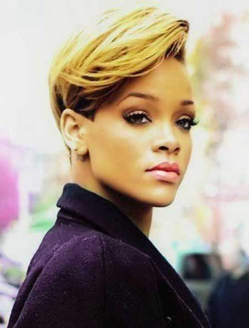 10 Best Rihanna Short Blonde Hair Short Hairstyles 2017