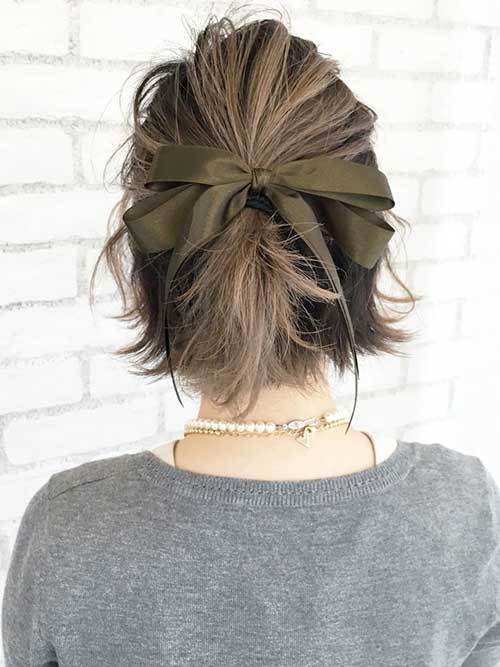 updo styles for short hair 15 special updos for hairstyles hairstyles 4527 | 9.Updo for Short Hairstyles