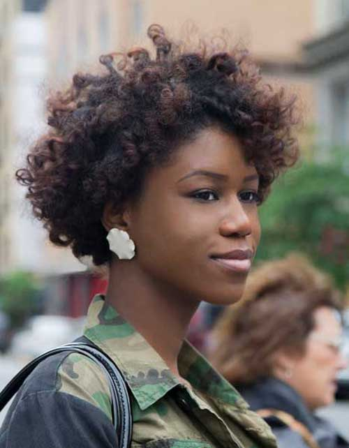 Hairstyles For Afros : Short curly afro hairstyles