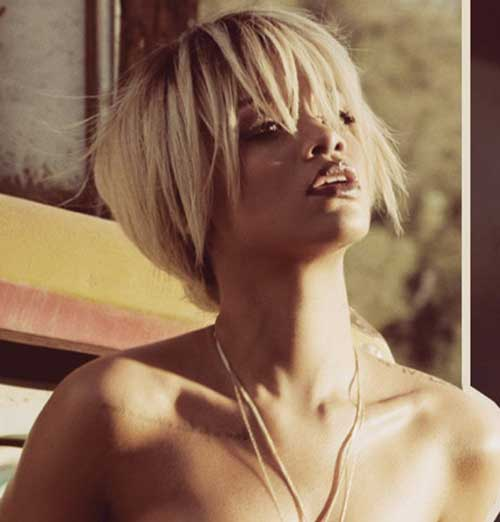 Rihanna Blonde Short Hair