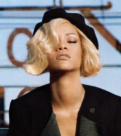 Rihanna Short Hair Blonde
