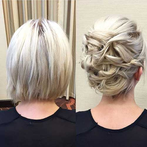 15+ Special Updos For Short Hairstyles