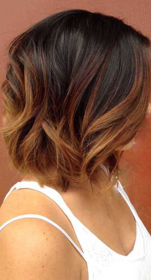 Ombre Hair Brown To Caramel To Blonde Medium Length 20 Best Long Bob Ombre...