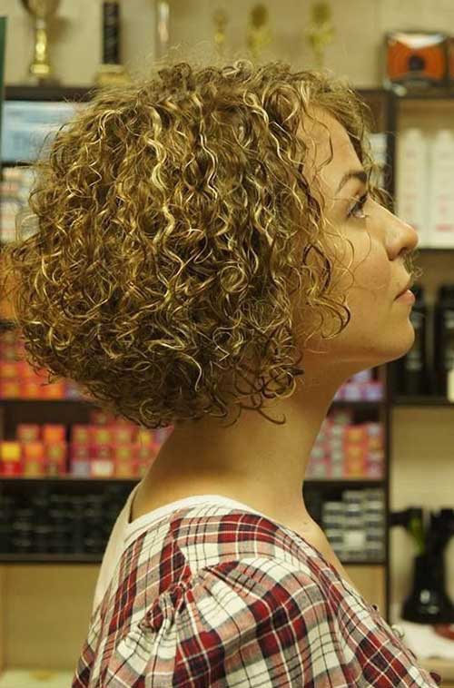 Short Curly Hair Styles-13