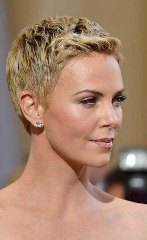 Terrific 15 Charlize Theron Pixie Cuts Short Hairstyles 2016 2017 Short Hairstyles For Black Women Fulllsitofus