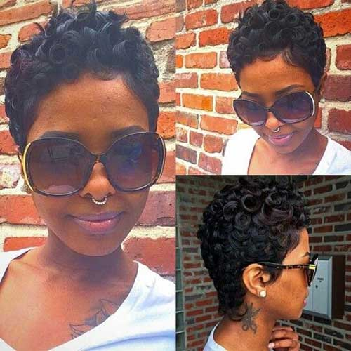 Short Hairstyles For Black Women 2015-18