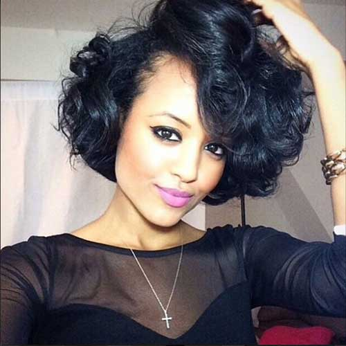 Cute Short Curly Hairstyles-6