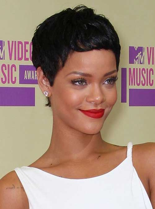 Prime 15 Best Rihanna Pixie Cuts Short Hairstyles 2016 2017 Most Short Hairstyles Gunalazisus