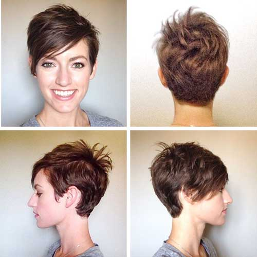Brown Pixie Cut
