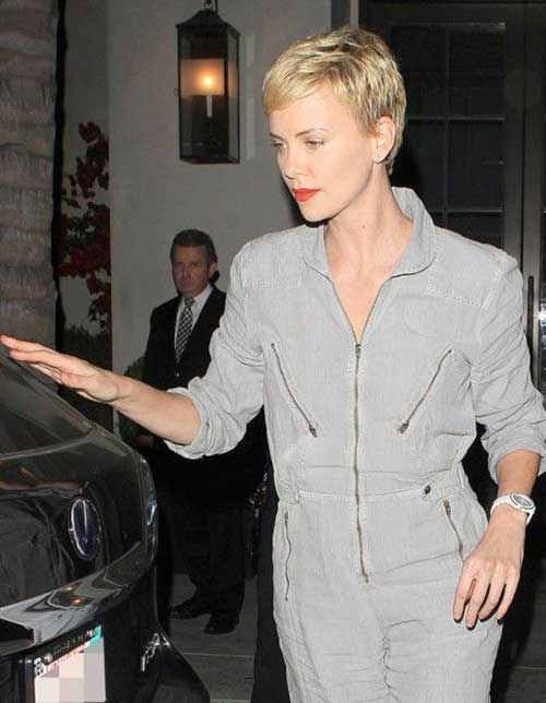 Charlize Theron Pixie Haircut