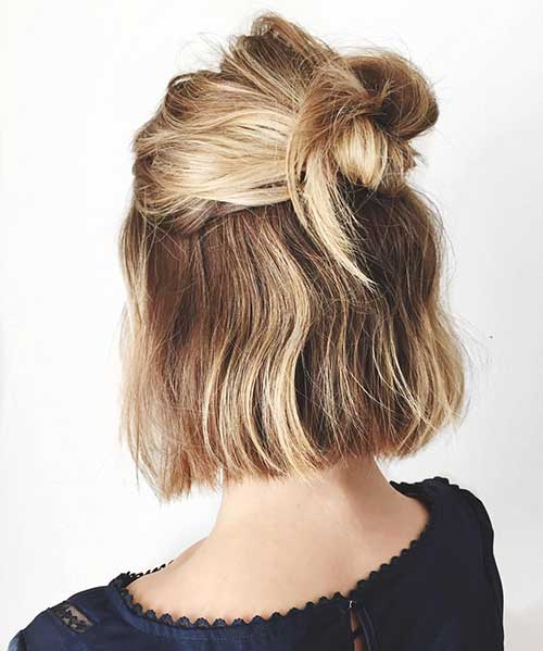 Easy And Cute Hairstyle For Short Hair