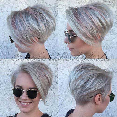 short hairstyles without bangs : 20+ Short Haircuts With Highlights Short Hairstyles 2016 - 2017 ...
