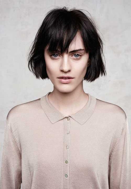 Short Hair Cut with Bangs