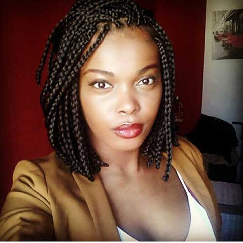 Amazing Hairdos For Black Ladies With Box Braids Short