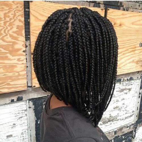 Short Box Braided Hair Women