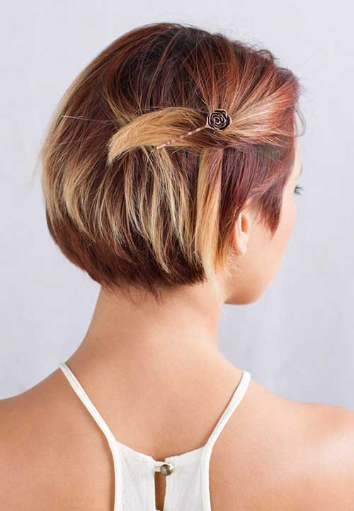 Short Hair Ideas with Bobby Pins