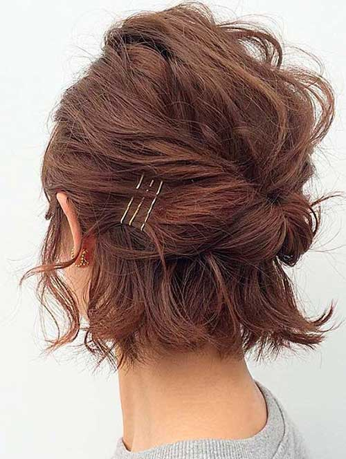 Short Hairstyles Bobby Pins