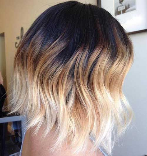 Amazing ombre colored short hairstyles you must see - Ombre blond braun ...