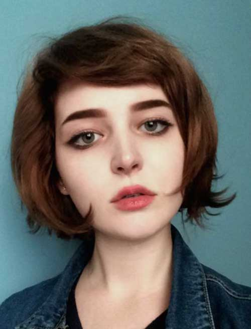 inspiring short haircuts for round faces short