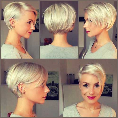 Short Hairstyles for Round Face-15