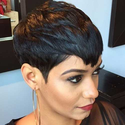 style black short hair 20 attractive pixie haircuts crazyforus 3840 | 8.Pixie Haircuts Women