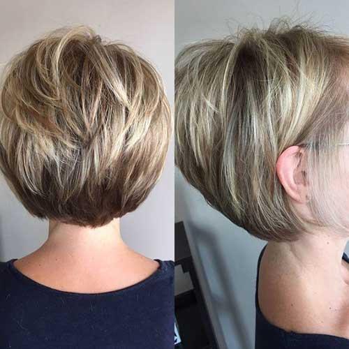 Elegant Short Highlighted Hair Color Ideas