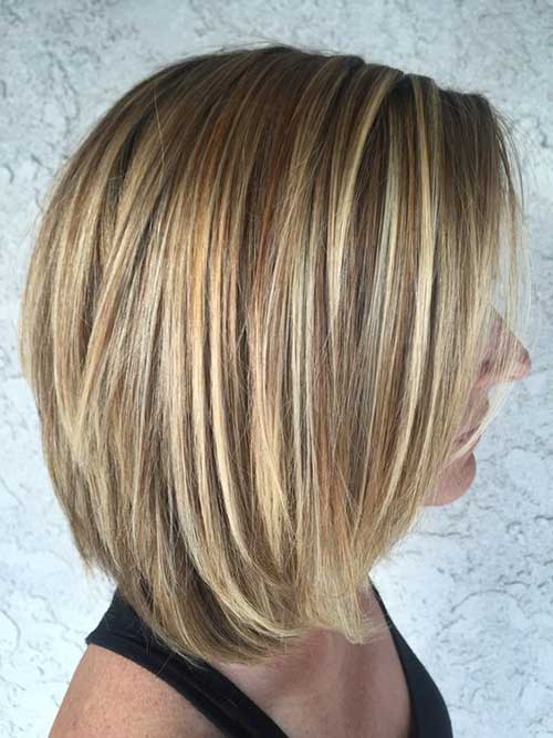 Elegant Short Highlighted Hair Color Ideas