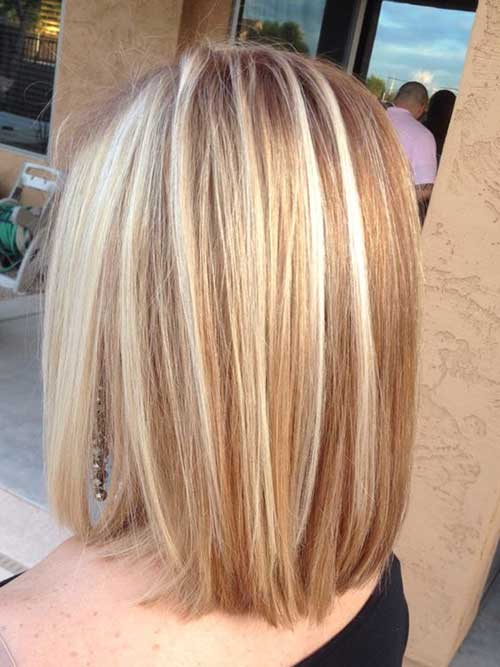 Elegant Short Highlighted Hair Color Ideas Short
