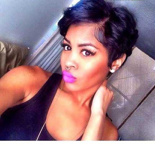 Kurze Frisuren für Schwarze Frauen-12