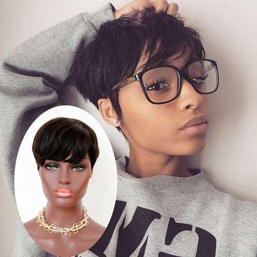 Kurze Frisuren für Schwarze Frauen-13