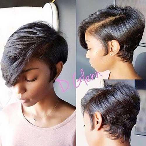 Kurze Frisuren für Schwarze Frauen-14
