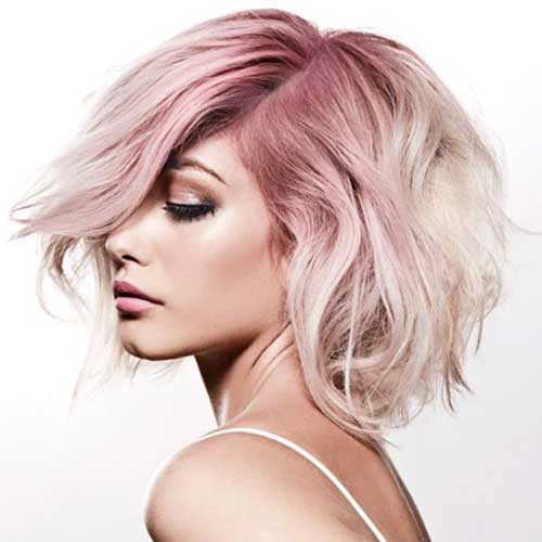 Tumblr Style Pale Pink Short Hair Colors | Short