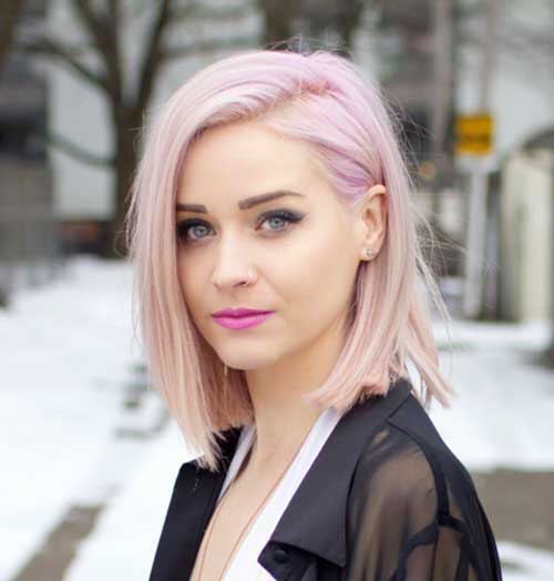 Tumblr Style Pale Pink Short Hair Colors