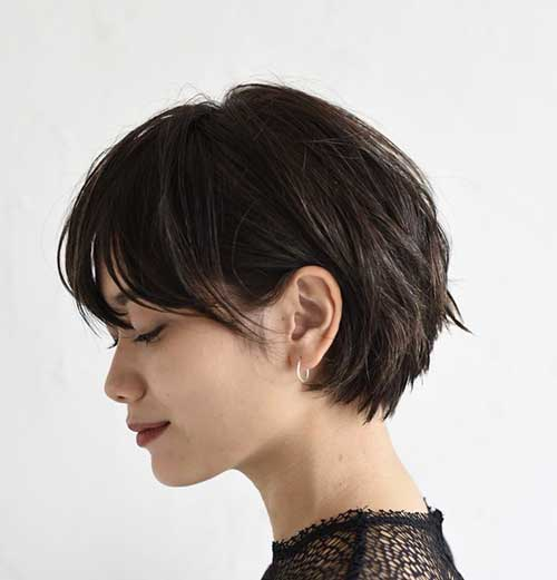 short dark hair styles 15 wonderful brown hairstyles crazyforus 6656 | Short Brown Haircut