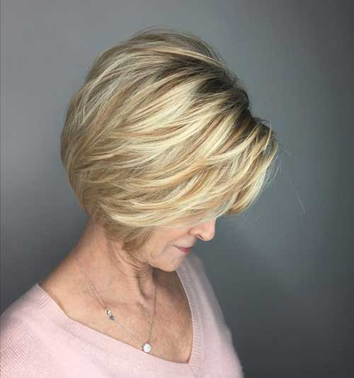 Short Haircuts Older Women