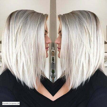 Blonde, Layered Hairstyle