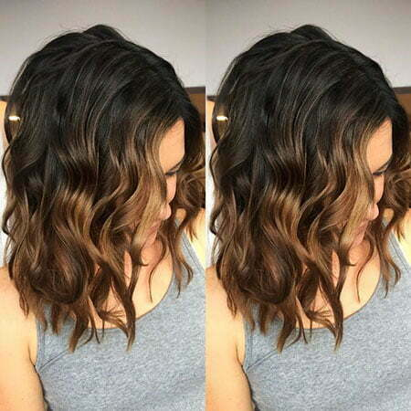 Dark Brown To Light Brown Ombre Short Hair Straight