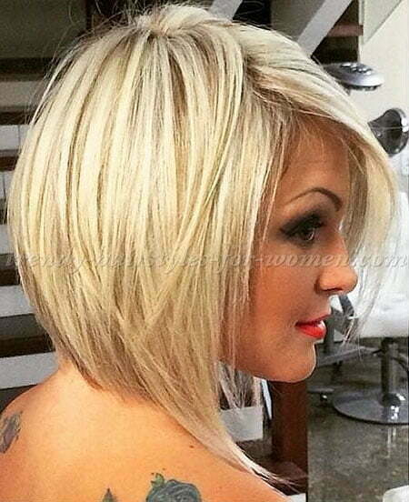 Bob Medium Straight Mid Long Lob Length Blonde 2017, Medium Straight Bob