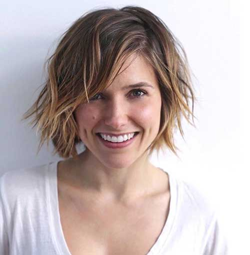 Best 20 Short Haircut Ideas For Round Faces