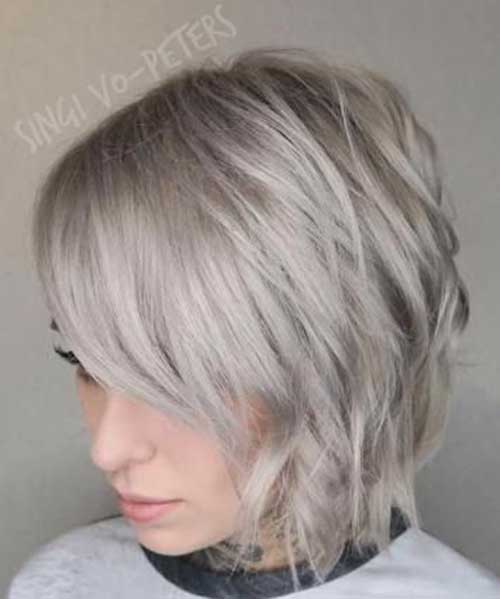 Ash Blonde Short Haircuts